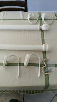 Image of Curtian railing with tie backs