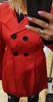 Płaszcz czerwony na wiosne/jesień roz. L
