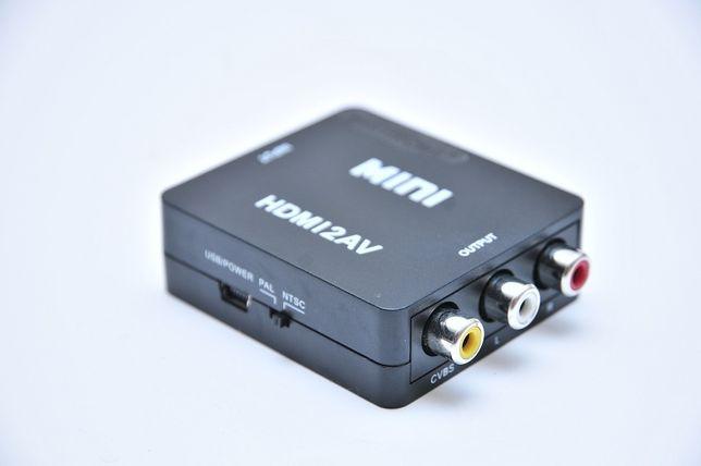 Конвертер ЦАП HDMI to AV RCA(тюльпаны) адаптер 1080p 720i HDMI2AV Днепр - изображение 3