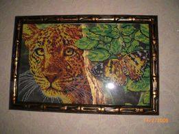 """Картина бисером """"Леопард"""""""