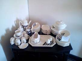 55pc Davos Stoneware Dinner Set