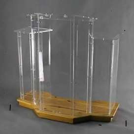 Wingstyle Clear Podium/ Pulpit