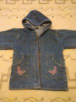 Джинсовая куртка/ветровка на девочку р.128 (6-7 лет)
