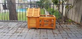 Wooden rabbit/guinea pig cage price is negotiable