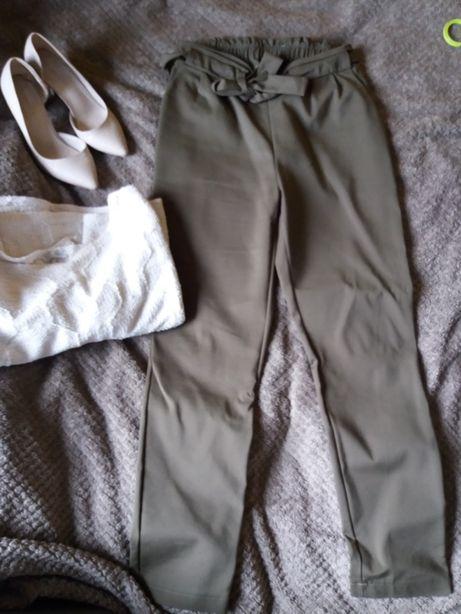 spodnie o'la voga khaki zielone wysoki stan Przybyszewo - image 3