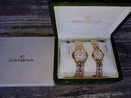 Matching pair of Swiss made Gold Plated Watches