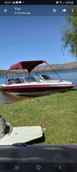 Classic 170 bow rider boat with 125hp Mercury