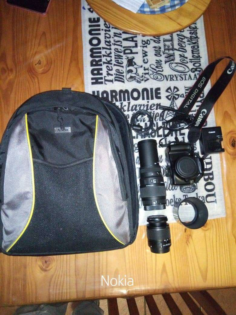Canon Camera with lenses and bag 0