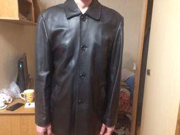 Мужская осенняя кожаная куртка