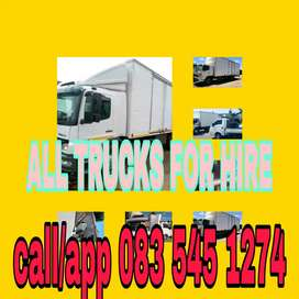 All trucks and cranes trucks for hire