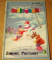 """(10) Zima- kolorowanka """"Zimowe przygody"""""""