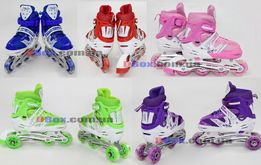 Детские ролики Роликовые коньки раздвижные мягкие бесшумные колеса