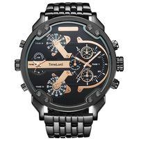 Męski zegarek CZARNO-ZŁOTY wygląd jak DIESEL ciężki bransoleta