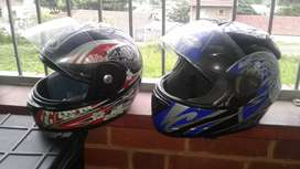 Two motorcycle helmets for sale