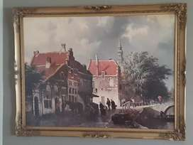 Antique print with beautiful frame