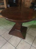 Stół drewniany stylowy okrągły 80 cm