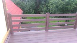 Balustrada.ogrodzenia z deski kompozytowej