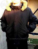 курточка зима на мальчика 13-14.лет цвет черный размер 42-44
