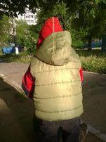 Детская теплая жилетка безрукавка для мальчика