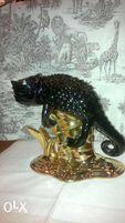 статуэтка хамелеон из фарфора,с позолотой. Италия.200 евро