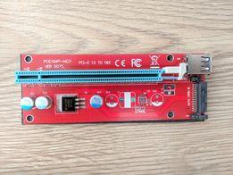 Райзер для видеокарт 7 верcия Riser SATA Сата Molex 6pin USB 3.0