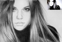 Лучший подарок - Портрет по фото карандашом