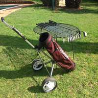 Image of Golf bag Spalding trolley and Golf Clubs set