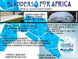 Water Storage Bladders for hire