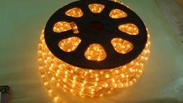 Круглая светодиодная лента силикон 220