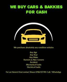 Car / Bakkie Wanted Up To R25000 Cash