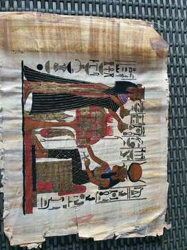 Unframed Egyptian papyrus original hand painted