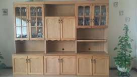 3 Piece Wooden Wall Unit