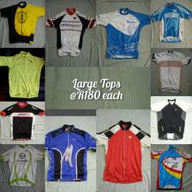 Cycling Tops for sale (Large, Medium and Small) @ R180 each !!!