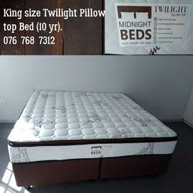 King size Twilight Pillow top bed