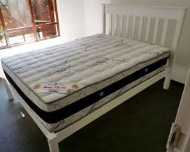 Double Bed Frame, new, incorporating Headboard