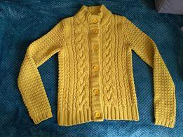 rozpinany żółty sweter