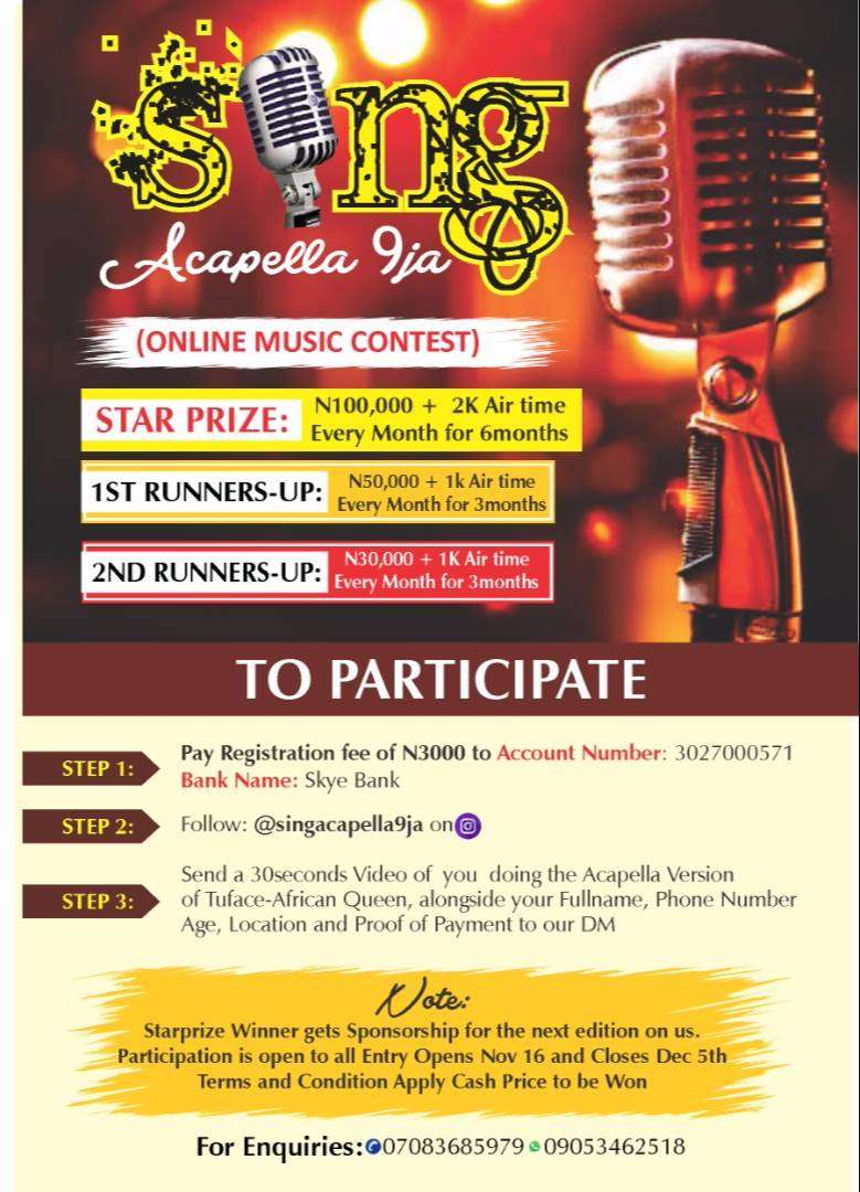 Win 100k @ Sing Acapella Online Contest. 0