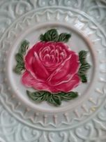 Фарфоровая тарелка 18 века. ручная работа 300 гр.