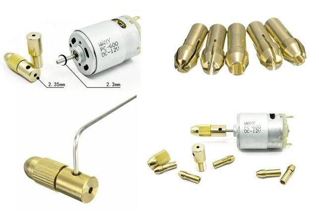 Цанговый патрон + 5 цанг 0,5-3мм цанга электро дрель мини Черкассы - изображение 6