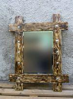 Зеркало-вешалка из искусственно состаренного массива ручной работы