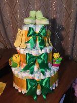 Торт з підгузників для новонароджених - ексклюзивний подарунок