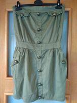 Sukienka w kolorze KHAKI, rozmiar S/M
