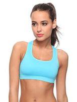 Biustonosz sportowy błękitny M 38 elastyczny fitness siłownia wygodny