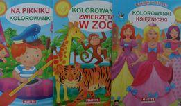 Kolorowanki dla dzieci fomat A4, Księżniczki, W zoo, Piknik