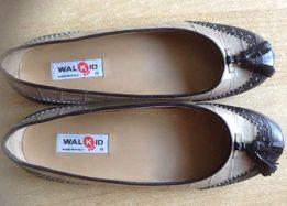 Продам туфли- балетки 38 р., кожа Walkid ( Италия) Новые с коробкой ,