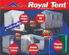 Mobile vip toilet and freezers for sale