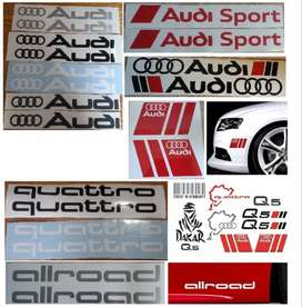Audi side decals stickers graphics