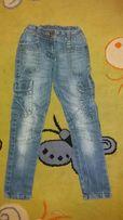 Spodnie jeansy rurki skinny do przedszkola 116