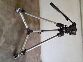 Manfrotto TV Camera Tripod with Manfrotto friction head and Dolly.