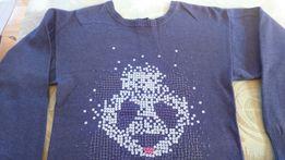 Sweter fiolet cekiny S-M